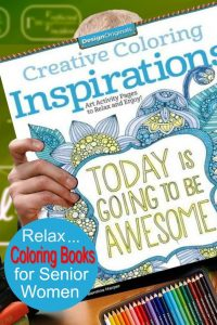 coloring books for senior women